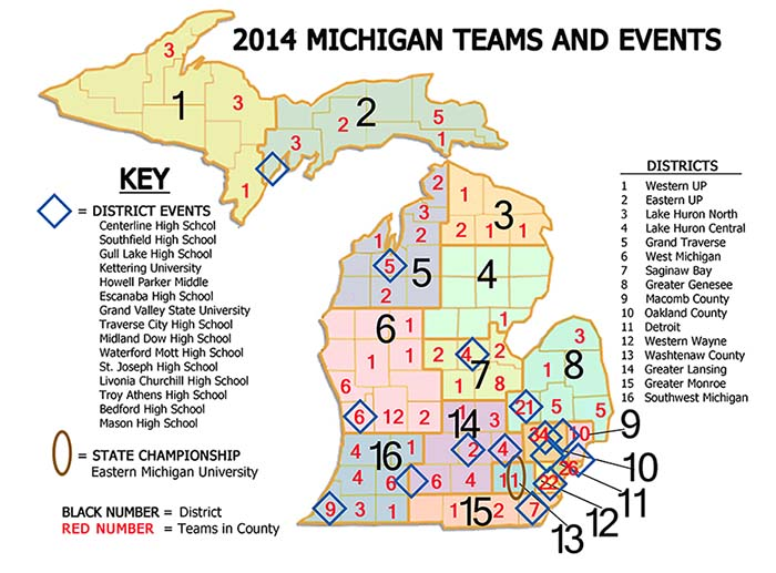 Mi District Map First In Michigan